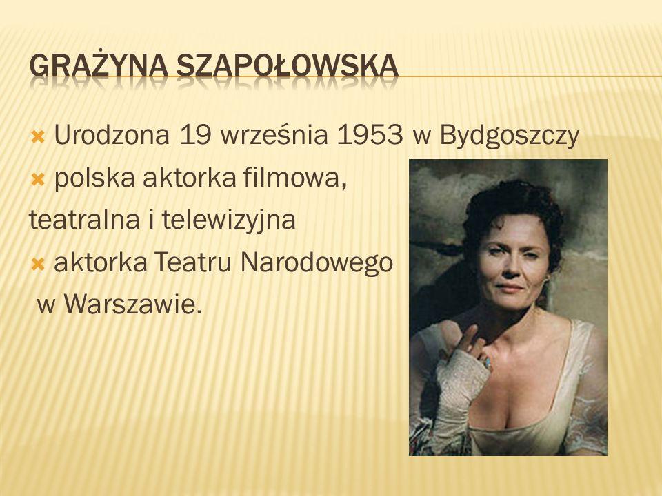 Urodzona 19 września 1953 w Bydgoszczy polska aktorka filmowa, teatralna i telewizyjna aktorka Teatru Narodowego w Warszawie.