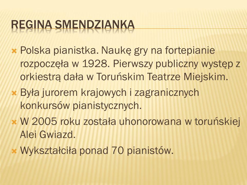 Polska pianistka. Naukę gry na fortepianie rozpoczęła w 1928. Pierwszy publiczny występ z orkiestrą dała w Toruńskim Teatrze Miejskim. Była jurorem kr