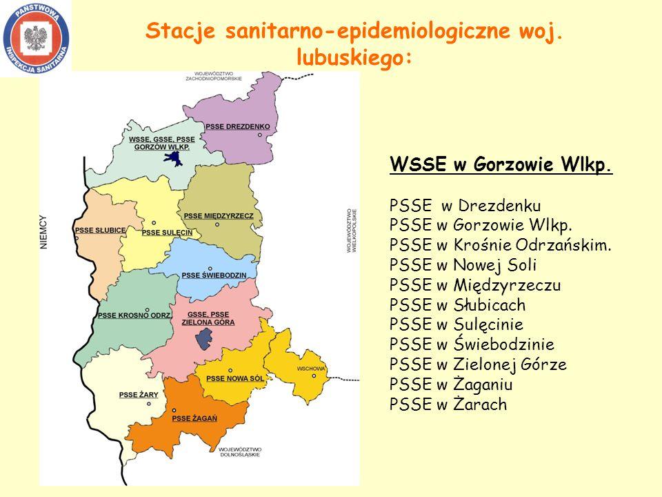 Stacje sanitarno-epidemiologiczne woj.lubuskiego: WSSE w Gorzowie Wlkp.