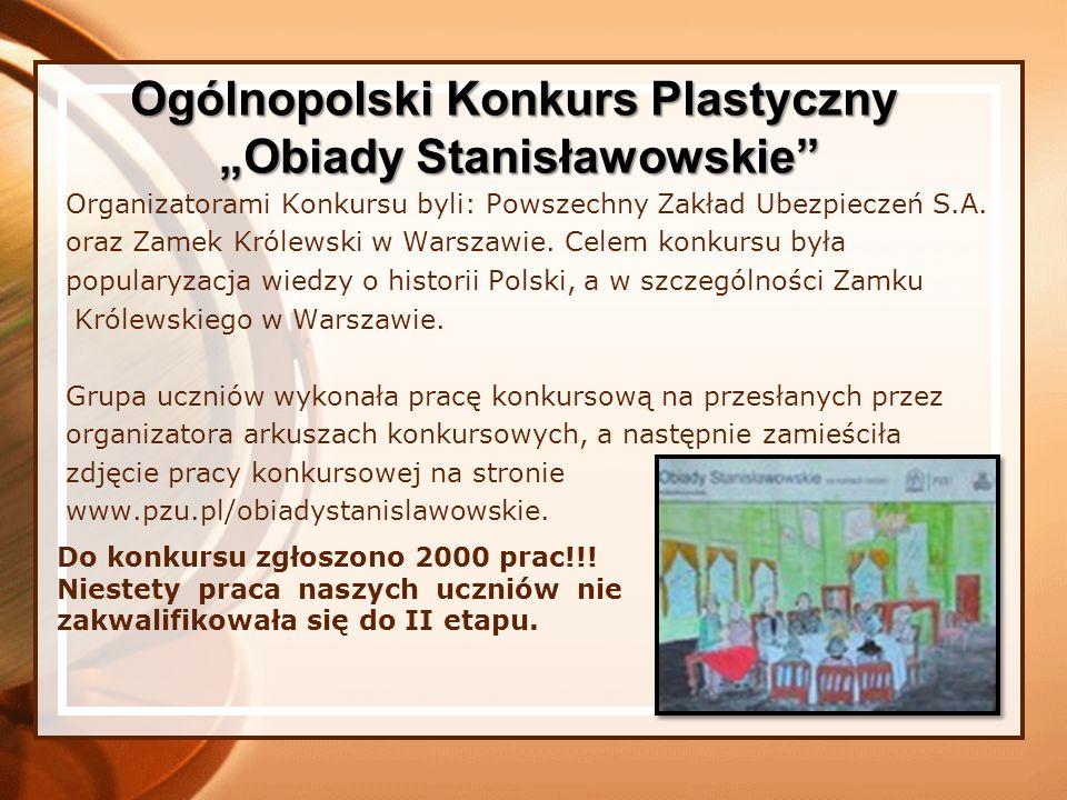 Organizatorami Konkursu byli: Powszechny Zakład Ubezpieczeń S.A. oraz Zamek Królewski w Warszawie. Celem konkursu była popularyzacja wiedzy o historii