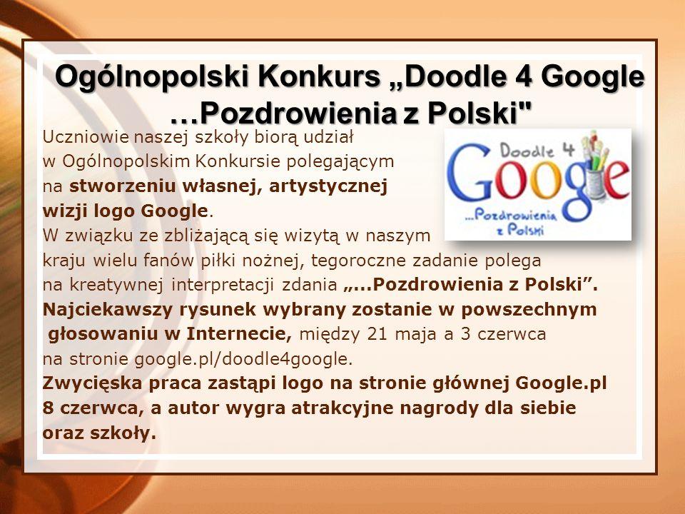 W Ogólnopolskim Konkursie Informatycznym eDukacja z Panem T.I.K.-iem - przewodnik multimedialny zgłosiliśmy pracę ucznia naszej szkoły Piotra Bąkowskiego.