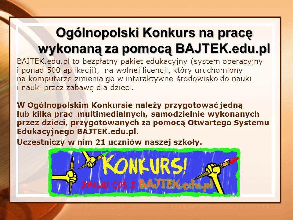 BAJTEK.edu.pl to bezpłatny pakiet edukacyjny (system operacyjny i ponad 500 aplikacji), na wolnej licencji, który uruchomiony na komputerze zmienia go