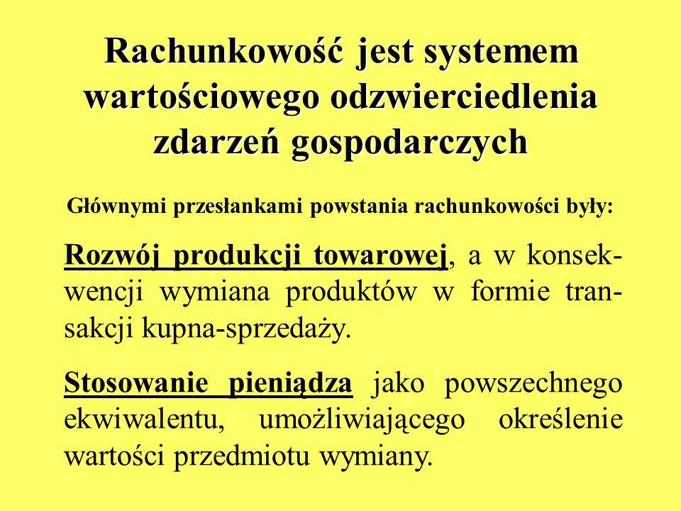Masowość wymienionych zjawisk, odpo- wiedni poziom wiedzy i jej powszechność (umiejętność pisania, znajomość zasad arytmetyki) doprowadziły do powstania rachunkowości.