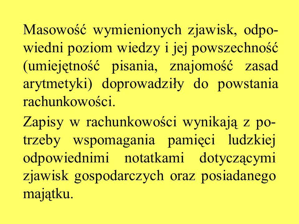 Masowość wymienionych zjawisk, odpo- wiedni poziom wiedzy i jej powszechność (umiejętność pisania, znajomość zasad arytmetyki) doprowadziły do powstan