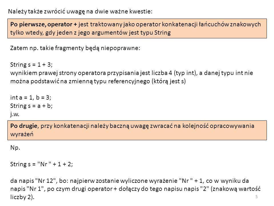 public class Recurs { public static int sum(int n) { if (n == 1) return 1; else return n + sum(n-1); } public static void main(String[] args) { System.out.println(sum(100)); } Wyprowadzi: 5050.
