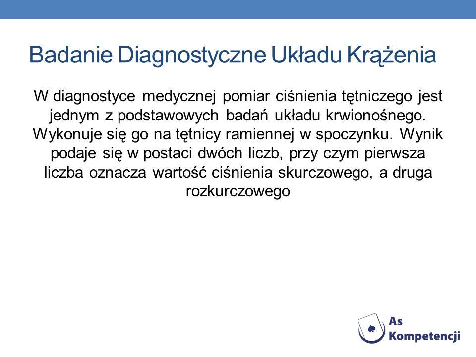Badanie Diagnostyczne Układu Krążenia W diagnostyce medycznej pomiar ciśnienia tętniczego jest jednym z podstawowych badań układu krwionośnego.