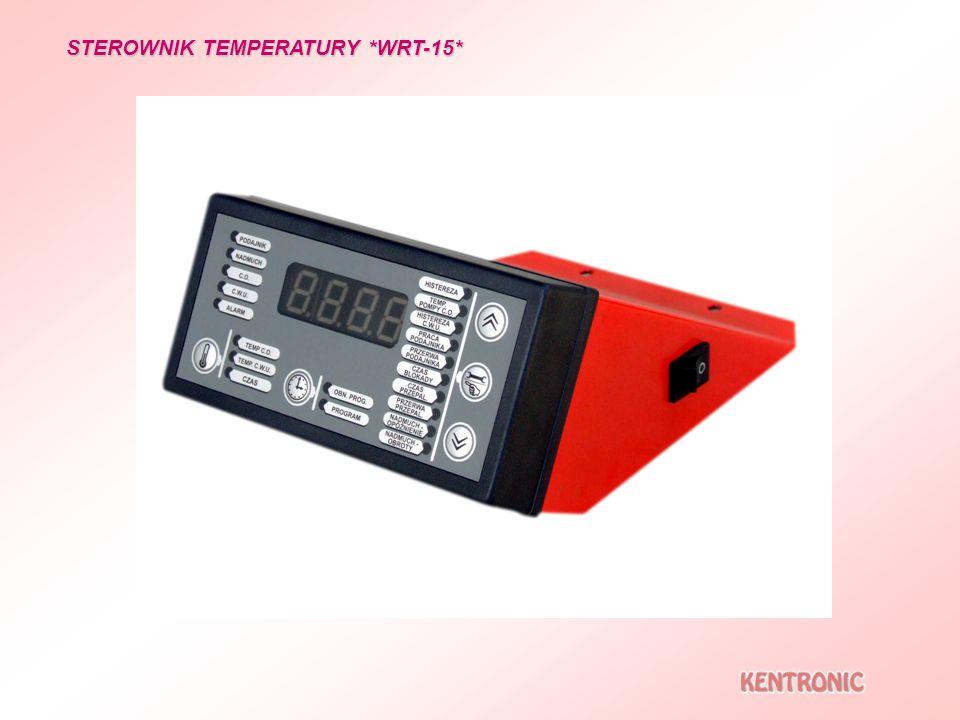 STEROWNIK TEMPERATURY *WRT-15* Funkcja czas letni przełączająca poza sezonem grzewczym na grzanie jedynie systemu C.W.U.
