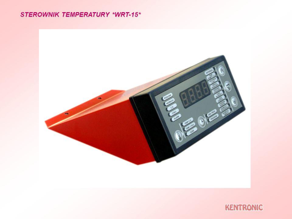 STEROWNIK TEMPERATURY *WRT-15* Wyjścia w postaci złącz, usprawniające montaż i serwisowanie przyłączenie czujników i ograniczników temperatury przyłączenie odbiorników przyłączenie zewnętrznego regulatora temp.