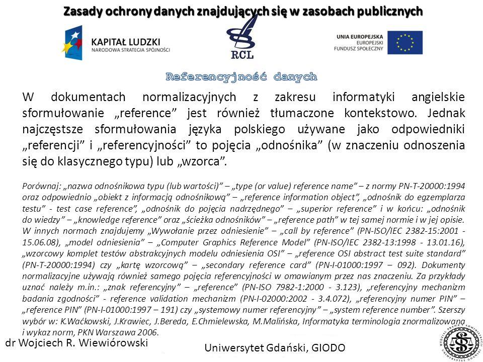 Samo pojęcie referencyjności pojawia się w polskim prawie stanowionym wielokrotnie. W większości przypadków rozumiane jest jednak kontekstowo Prowadze