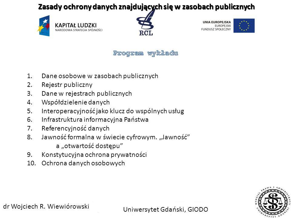 Uniwersytet Gdański, GIODO dr Wojciech R.