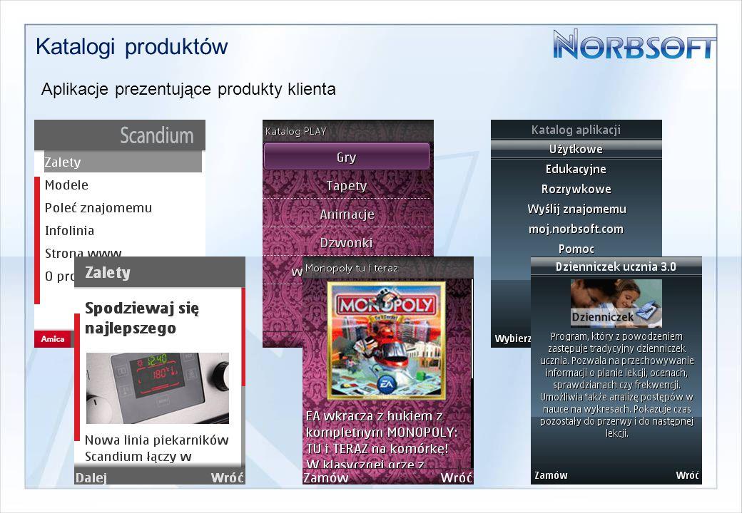 Katalogi produktów Aplikacje prezentujące produkty klienta