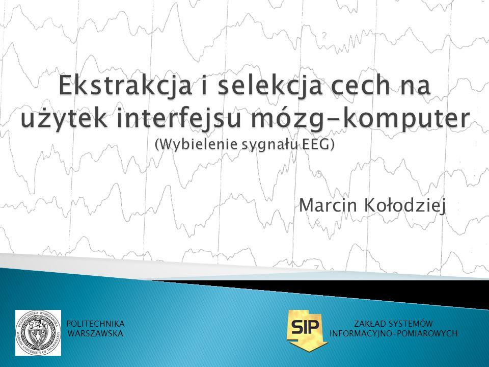 Marcin Kołodziej POLITECHNIKA WARSZAWSKA ZAKŁAD SYSTEMÓW INFORMACYJNO-POMIAROWYCH