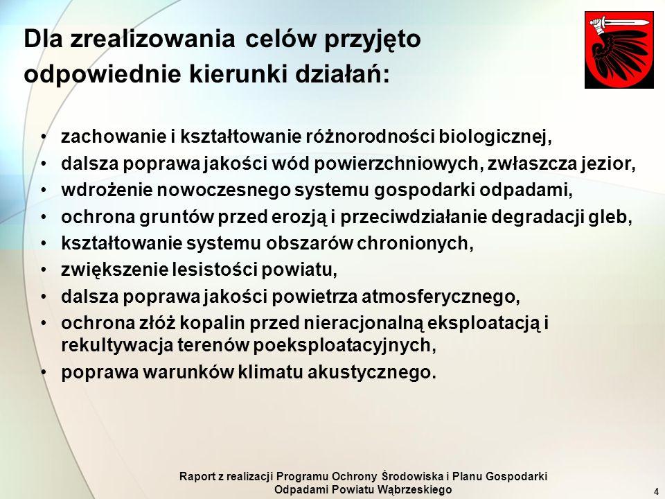 Raport z realizacji Programu Ochrony Środowiska i Planu Gospodarki Odpadami Powiatu Wąbrzeskiego 4 zachowanie i kształtowanie różnorodności biologiczn