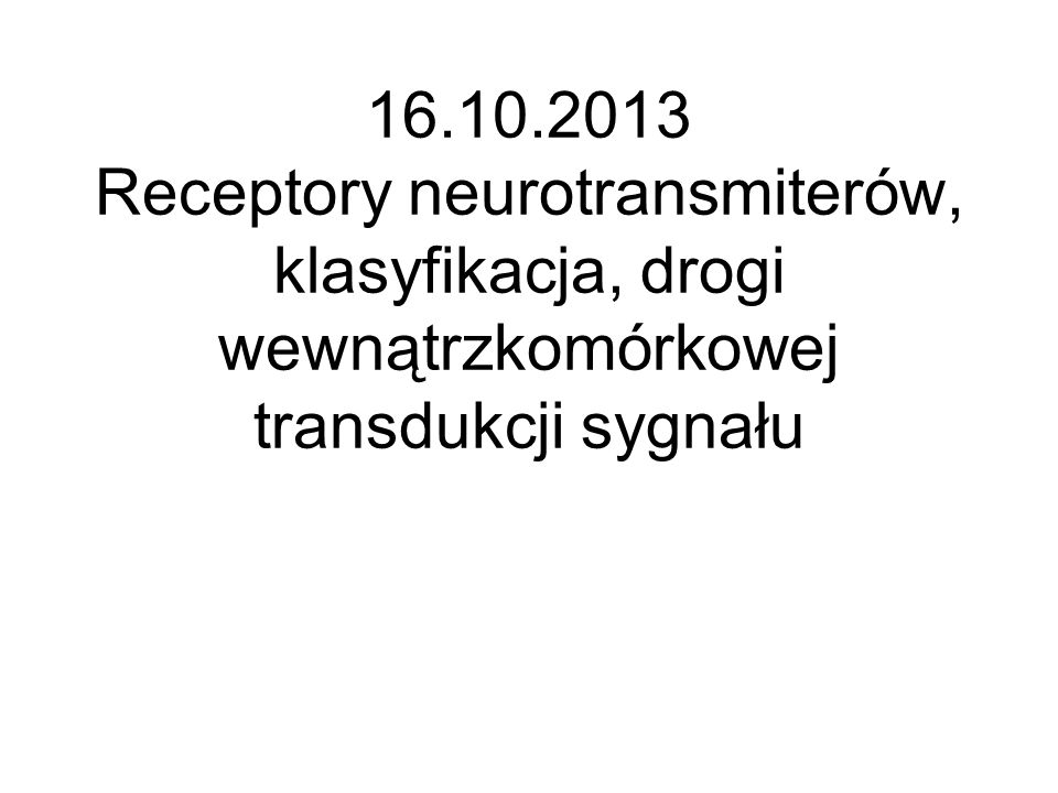 Receptory jonotropowe