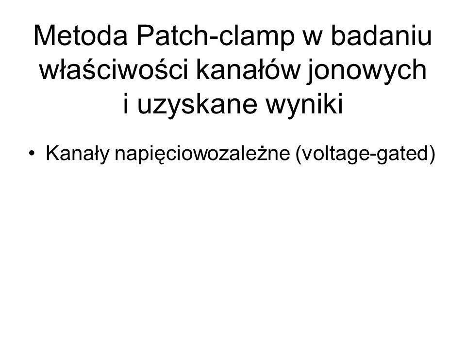 Metoda Patch-clamp w badaniu właściwości kanałów jonowych i uzyskane wyniki Kanały napięciowozależne (voltage-gated)