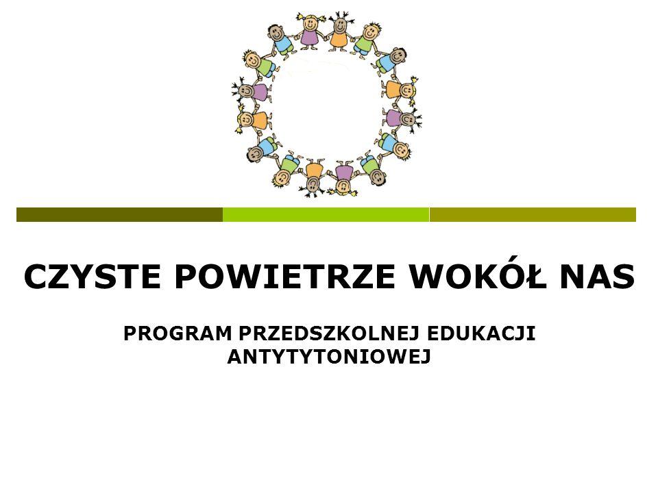 Czyste powietrze wokół nas Założenia programu: Ochrona dzieci przed szkodliwym wpływem dymu tytoniowego.