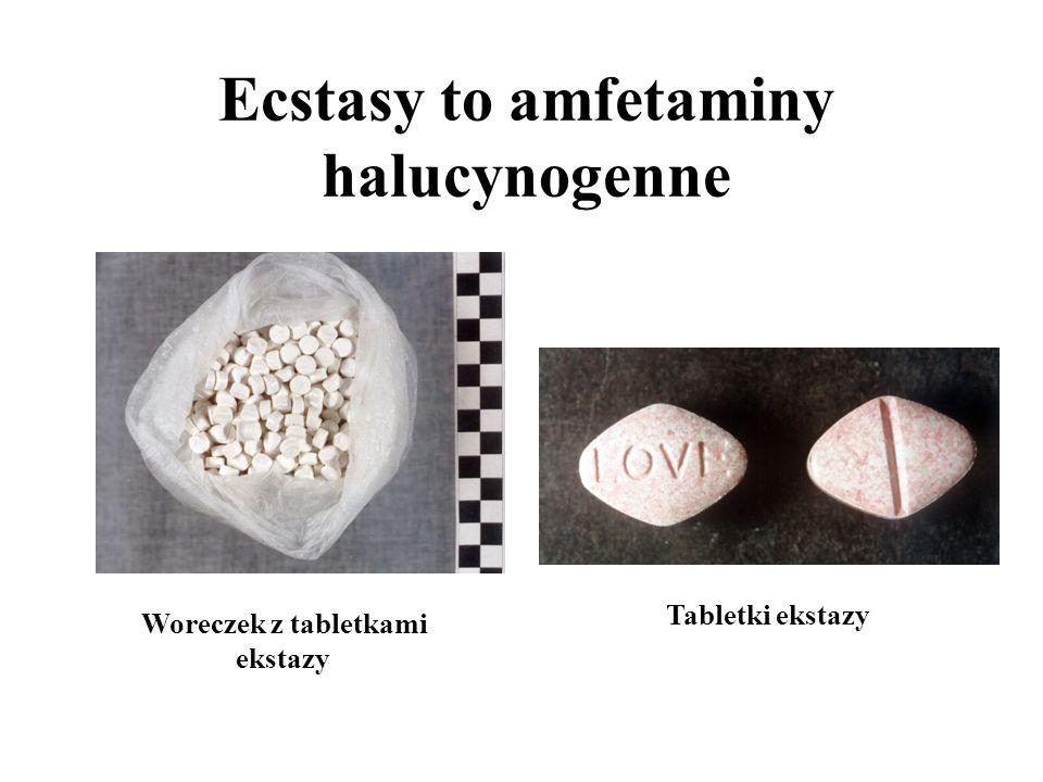 Amfetamina zwiększa aktywność Biały lub ceglasty, bezwonny proszek.
