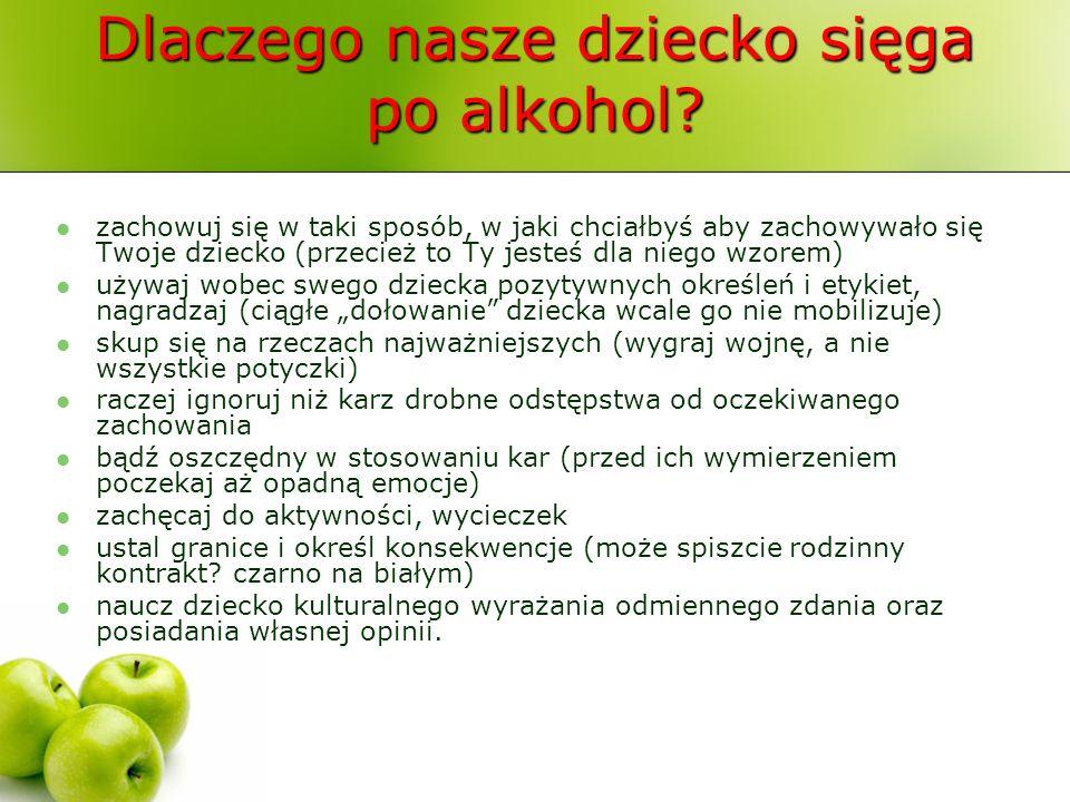 Dlaczego nasze dziecko sięga po alkohol? zachowuj się w taki sposób, w jaki chciałbyś aby zachowywało się Twoje dziecko (przecież to Ty jesteś dla nie