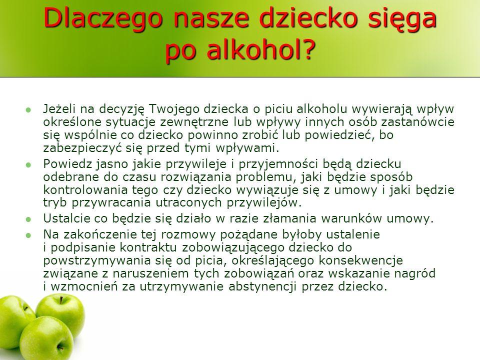 Dlaczego nasze dziecko sięga po alkohol? Jeżeli na decyzję Twojego dziecka o piciu alkoholu wywierają wpływ określone sytuacje zewnętrzne lub wpływy i