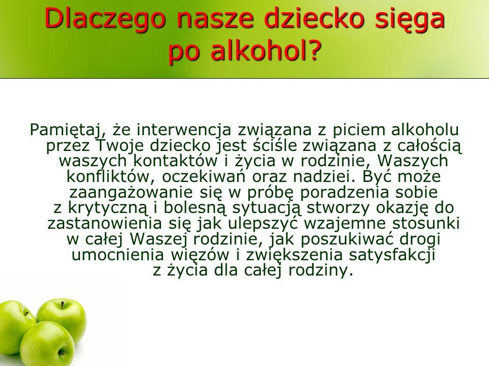 Dlaczego nasze dziecko sięga po alkohol? Pamiętaj, że interwencja związana z piciem alkoholu przez Twoje dziecko jest ściśle związana z całością waszy