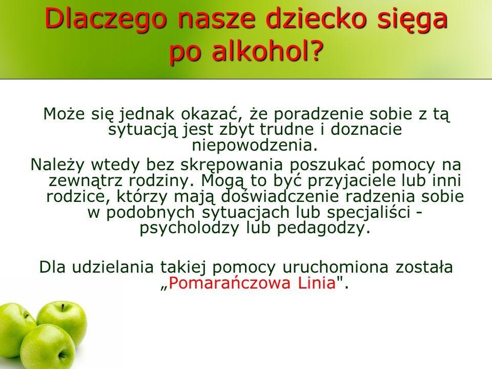 Dlaczego nasze dziecko sięga po alkohol? Może się jednak okazać, że poradzenie sobie z tą sytuacją jest zbyt trudne i doznacie niepowodzenia. Należy w