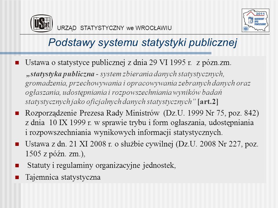 Podstawy systemu statystyki publicznej Ustawa o statystyce publicznej z dnia 29 VI 1995 r. z pózn.zm. statystyka publiczna - system zbierania danych s