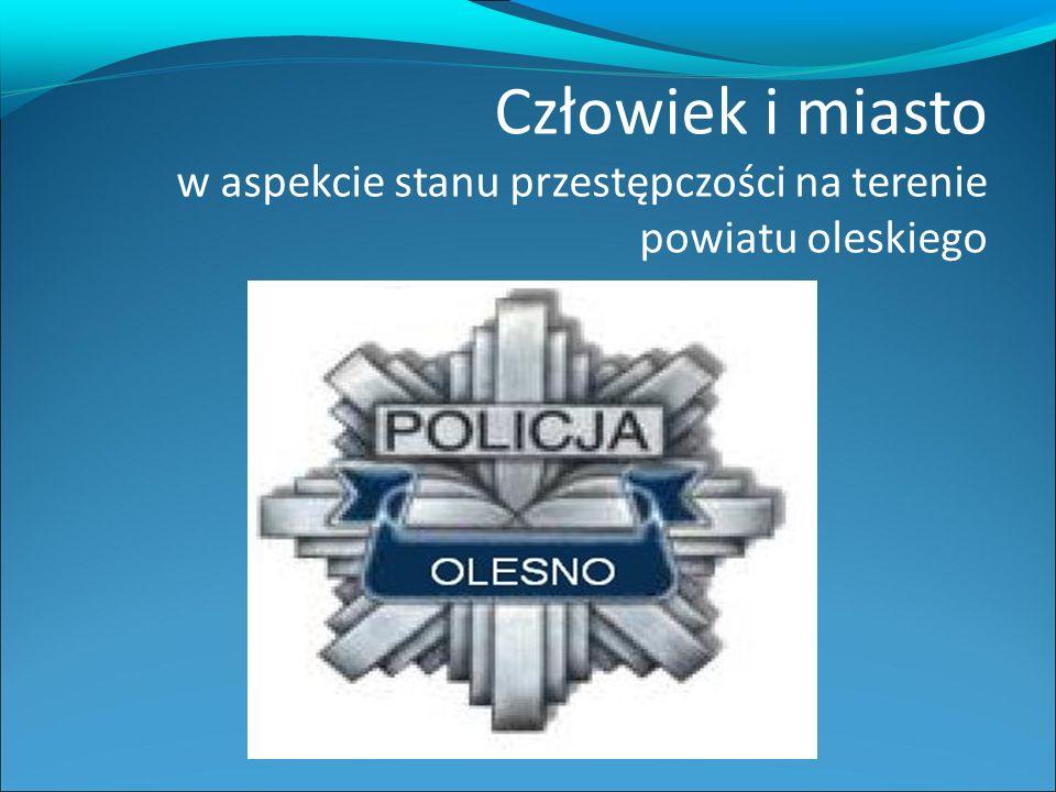 Człowiek i miasto w aspekcie stanu przestępczości na terenie powiatu oleskiego