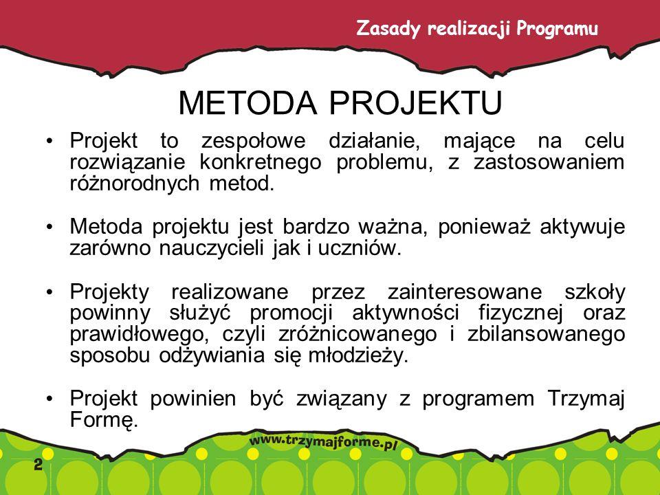 METODA PROJEKTU Projekt to zespołowe działanie, mające na celu rozwiązanie konkretnego problemu, z zastosowaniem różnorodnych metod.