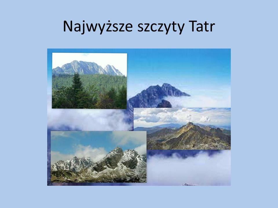 Najwyższe szczyty Tatr