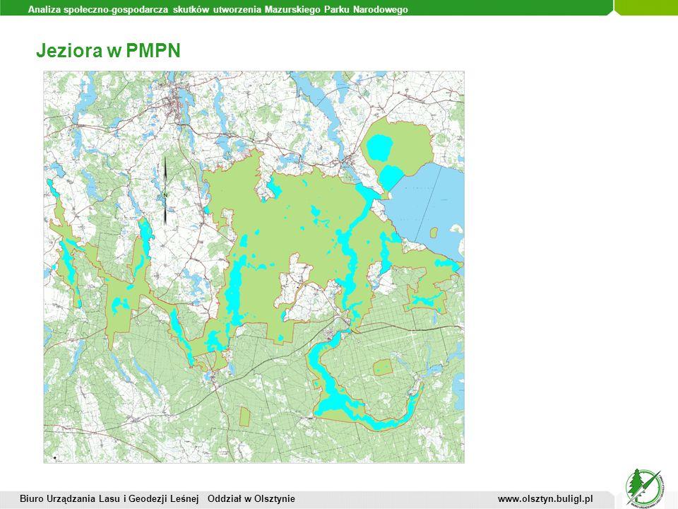 Analiza społeczno-gospodarcza skutków utworzenia Mazurskiego Parku Narodowego Jeziora w PMPN Biuro Urządzania Lasu i Geodezji Leśnej Oddział w Olsztyn