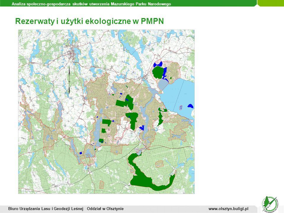 Analiza społeczno-gospodarcza skutków utworzenia Mazurskiego Parku Narodowego Rezerwaty i użytki ekologiczne w PMPN Biuro Urządzania Lasu i Geodezji L