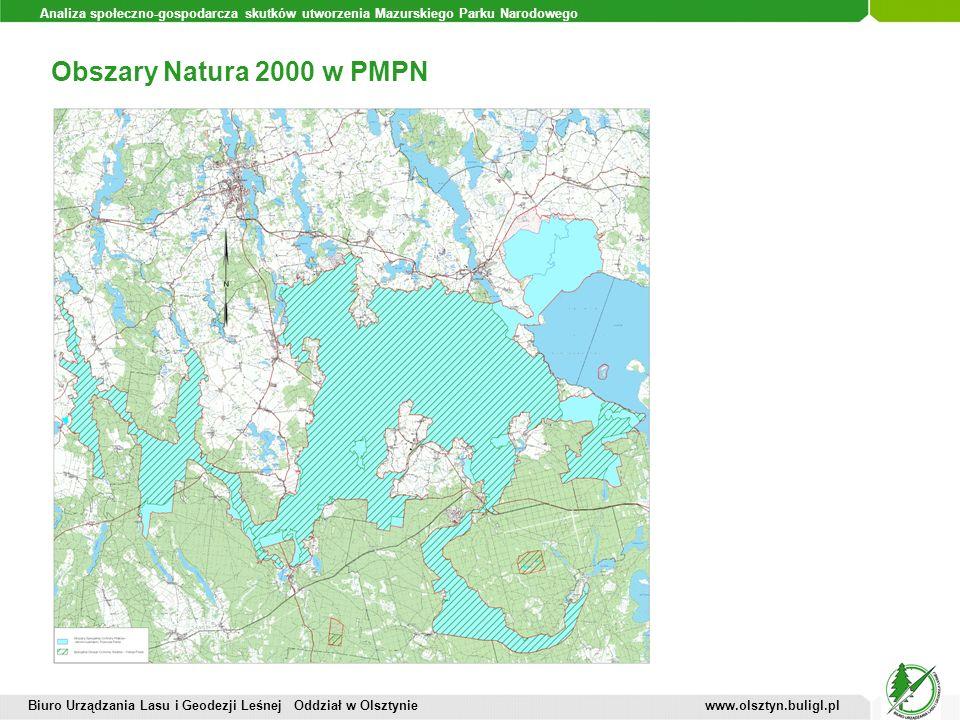 Analiza społeczno-gospodarcza skutków utworzenia Mazurskiego Parku Narodowego Obszary Natura 2000 w PMPN Biuro Urządzania Lasu i Geodezji Leśnej Oddzi