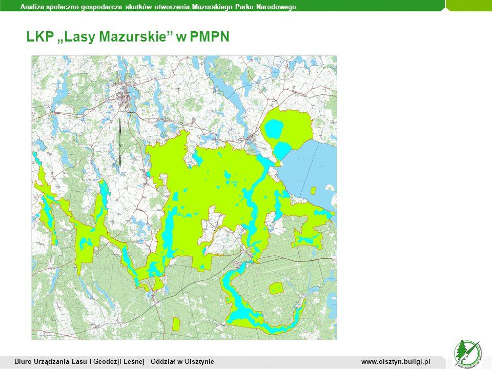 Analiza społeczno-gospodarcza skutków utworzenia Mazurskiego Parku Narodowego LKP Lasy Mazurskie w PMPN Biuro Urządzania Lasu i Geodezji Leśnej Oddzia