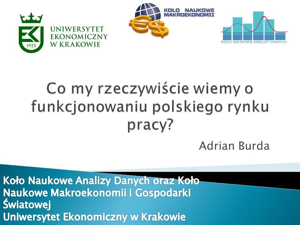 1.Wprowadzenie Polski rynek pracy w latach 1995-2010 Cele badania, hipotezy badawcze 2.