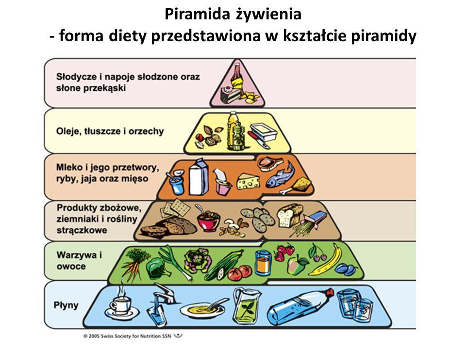 Piramida żywienia - forma diety przedstawiona w kształcie piramidy