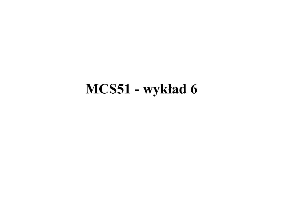 MCS51 - wbudowane peryferia 21/32 Układy czuwające - watchdogi w układach Philipsa
