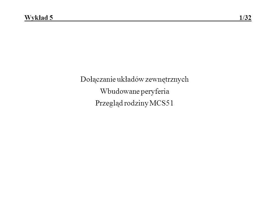 MCS51 - wbudowane peryferia 12/32 Komparatory analogowe 89C1051, 89C2051 Atmela: