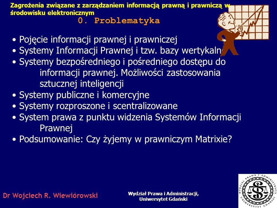 Nota: Niniejsza prezentacja stanowi uzupełnienie wykładu prezentowanego podczas II wspólnej konferencji Informacja dla nauki a świat zasobów cyfrowych