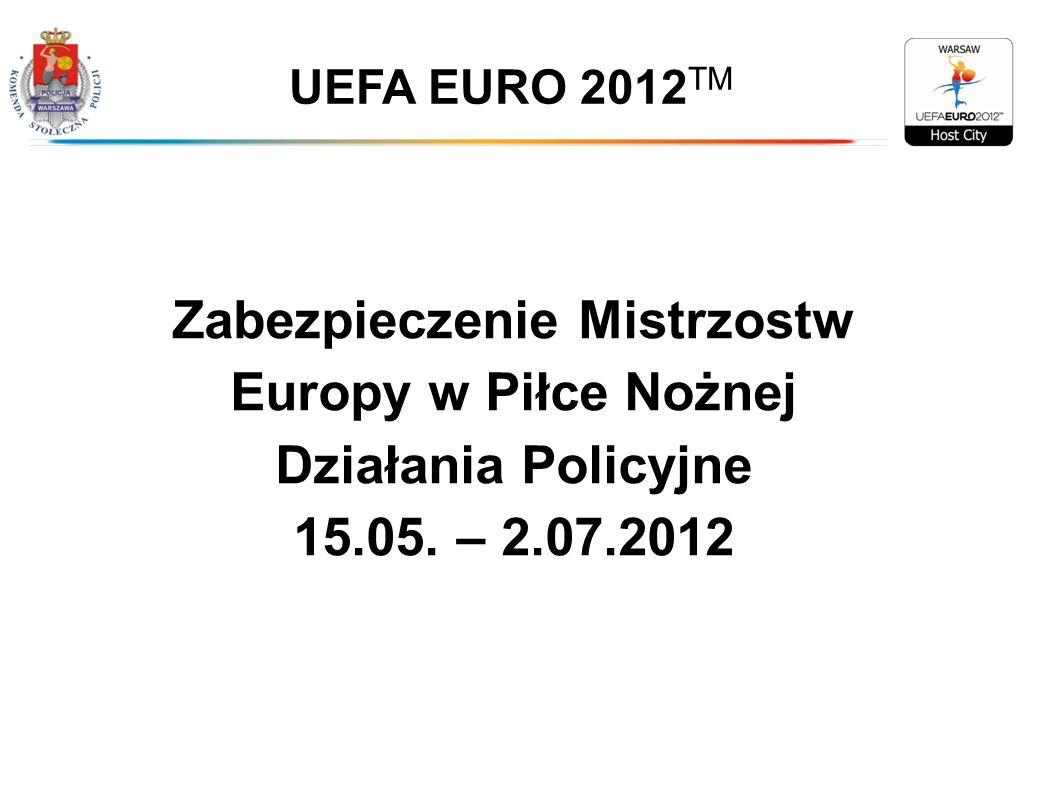 Zabezpieczenie Mistrzostw Europy w Piłce Nożnej Działania Policyjne 15.05. – 2.07.2012 UEFA EURO 2012 TM