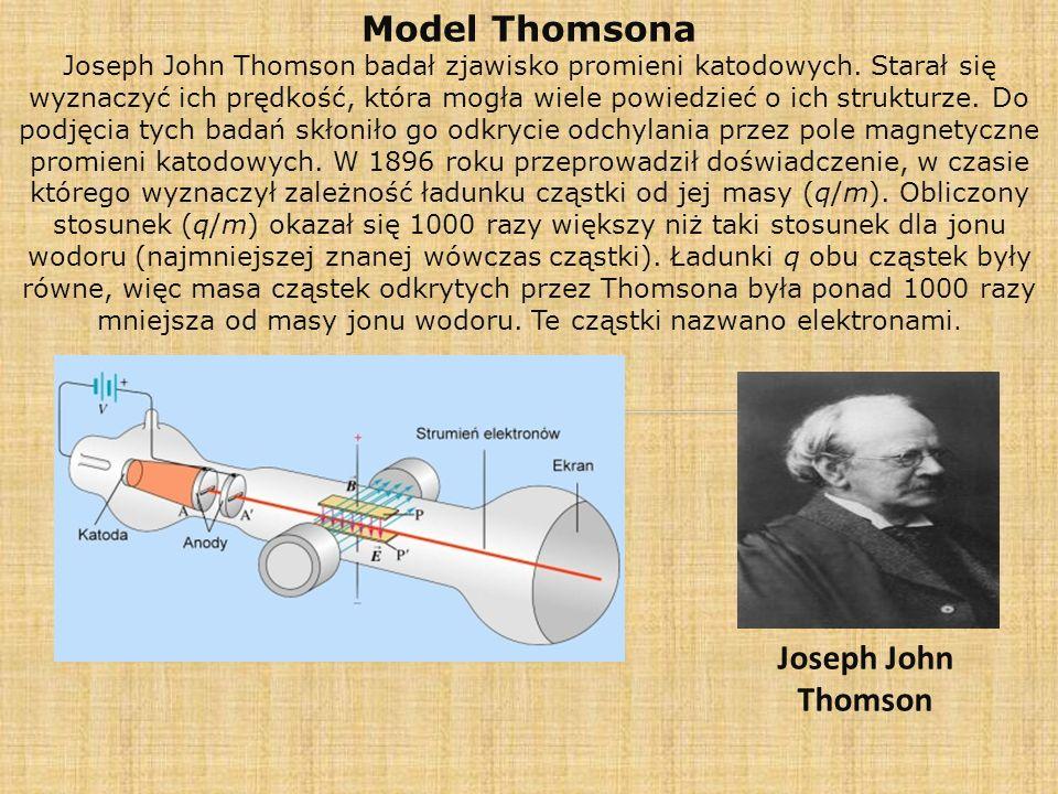Model Rutherforda Ernest Rutherford prowadził doświadczenia, polegające na bombardowaniu cienkiej folii ze złota cząstkami alfa (jądra helu), emitowanymi przez rad.