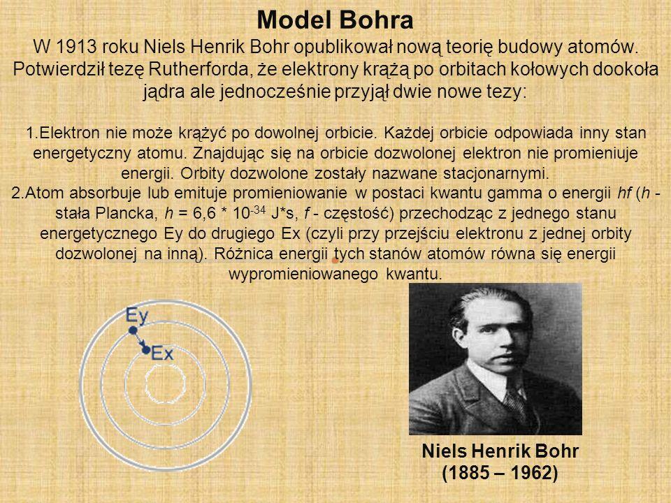 Model Schrödingera Współczesny model budowy atomu bierze pod uwagę falowe własności cząstek.