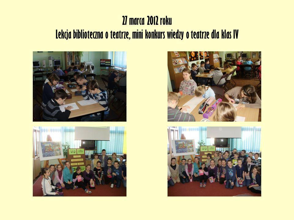 Maj 2012 roku Lekcja biblioteczna z książką Tajemnica biblioteki Nasza szko ł a od lat bierze udzia ł w ogólnopolskiej akcji Ca ł a Polska Czyta Dzieciom.