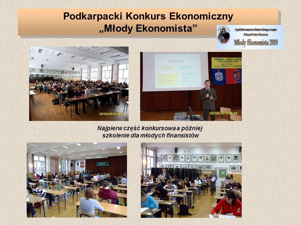 Podkarpacki Konkurs Ekonomiczny Młody Ekonomista Najpierw część konkursowa a później szkolenie dla młodych finansistów
