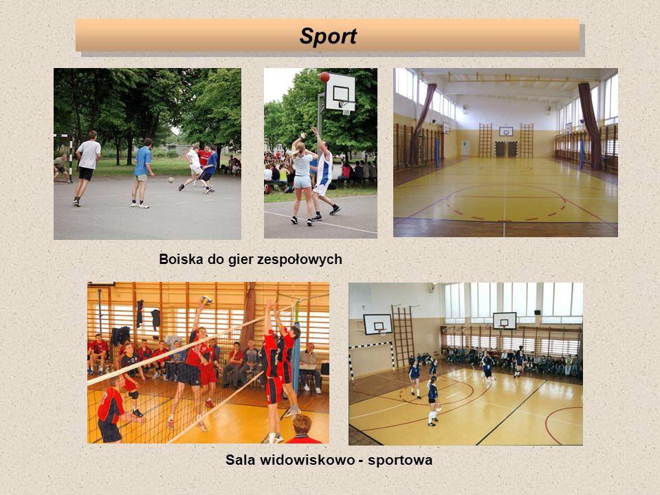 Sport Sala widowiskowo - sportowa Boiska do gier zespołowych