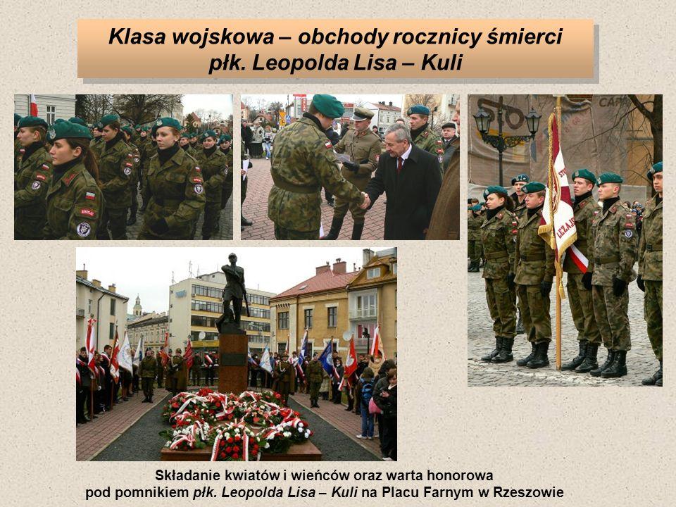 Klasa wojskowa – obchody rocznicy śmierci płk.