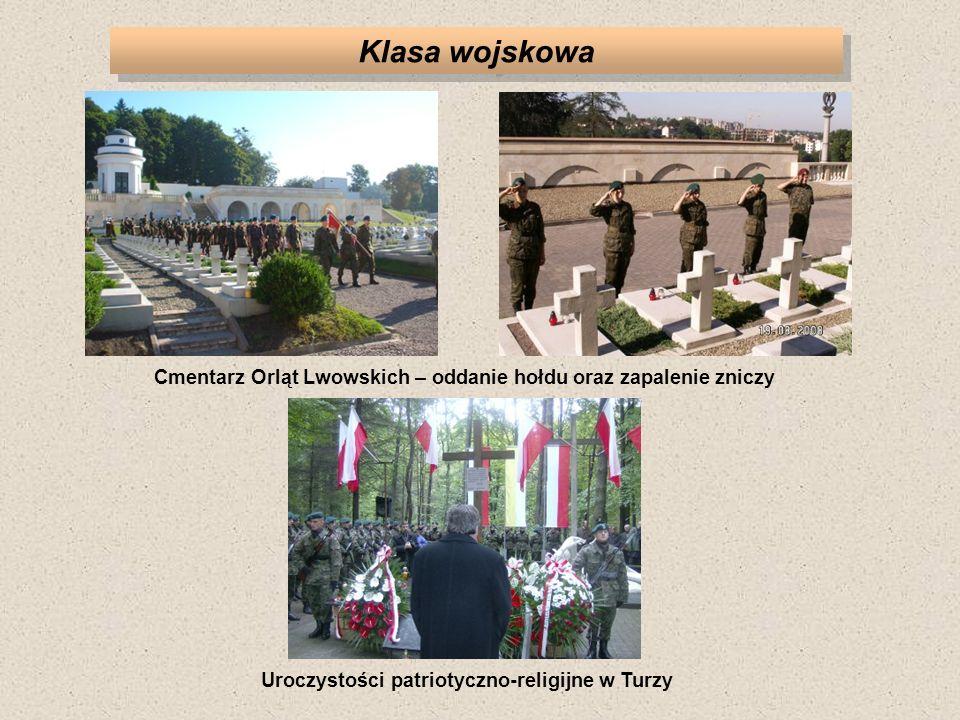 Klasa wojskowa Uroczystości patriotyczno-religijne w Turzy Cmentarz Orląt Lwowskich – oddanie hołdu oraz zapalenie zniczy