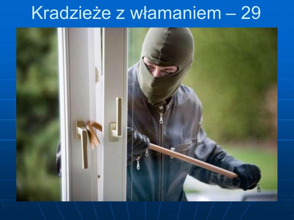 Kradzieże z włamaniem – 29