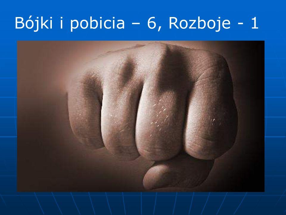 Bójki i pobicia – 6, Rozboje - 1