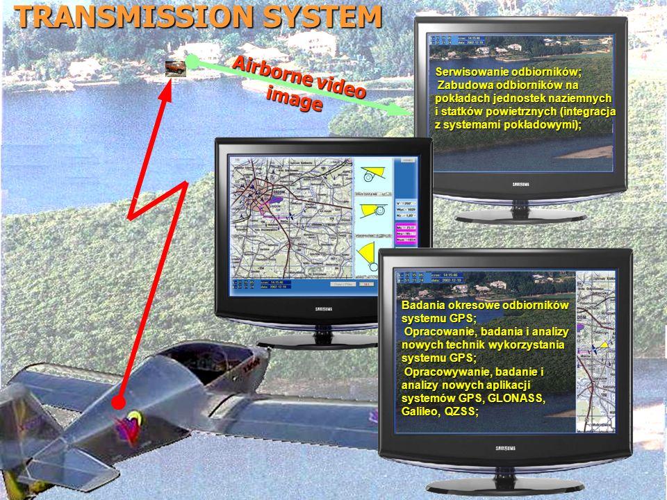 TRANSMISSION SYSTEM Airborne video image Serwisowanie odbiorników; Zabudowa odbiorników na pokładach jednostek naziemnych i statków powietrznych (inte