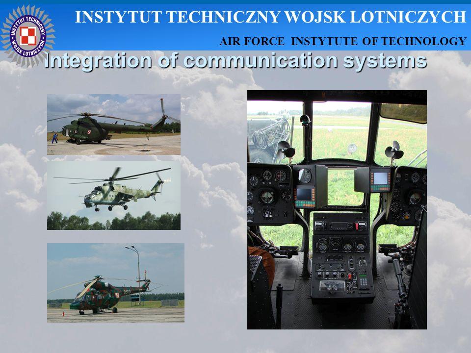 Integration of communication systems INSTYTUT TECHNICZNY WOJSK LOTNICZYCH AIR FORCE INSTYTUTE OF TECHNOLOGY